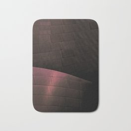 Deep Red architectural abstract of the LA Phil designed by Frank Gehry Bath Mat