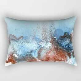 Copper Blue Abstract Sky Rectangular Pillow