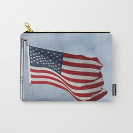 American Flag waving in the Sky Carry-All Pouch