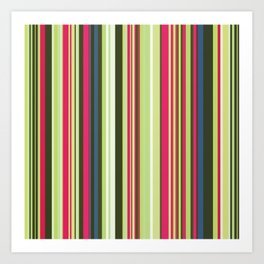 Old Country Stripes - Lime Cordial Art Print