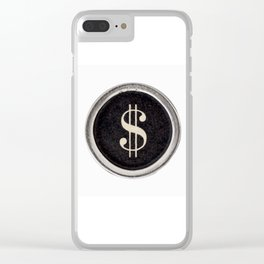 Vintage Dollar Sign Clear iPhone Case