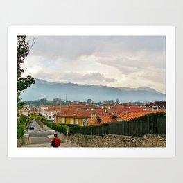 Fog in Llanes, Spain Art Print