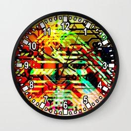 Color circuit Wall Clock