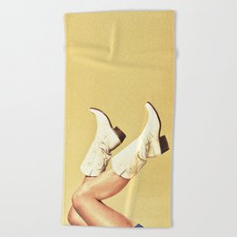 These Boots Beach Towel