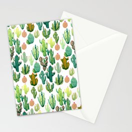 ramdom cactus Stationery Cards