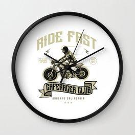 Ride Fast - Motocross, Motobike, Motorbike Rider T Shirt Wall Clock