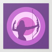 kate bishop Canvas Prints featuring Kate Bishop: Young Avenger by semisweetshadow