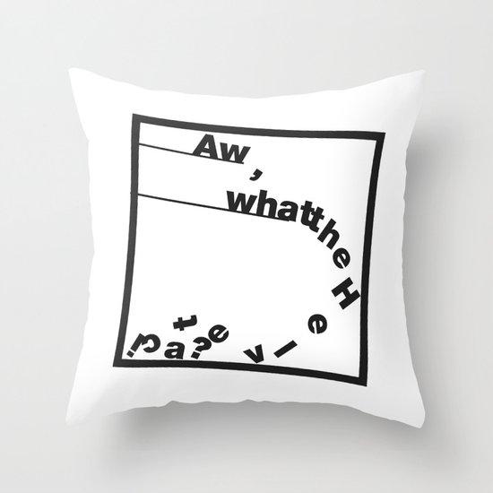 Whatthe Hel v e t  i  c  a? Throw Pillow