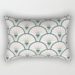 Art Deco Fan Rectangular Pillow