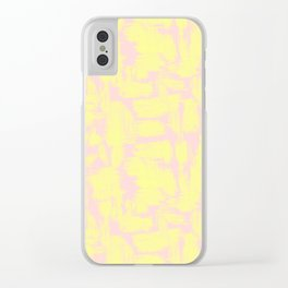 pink yellow Clear iPhone Case