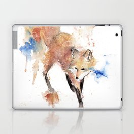 """Watercolor Painting of Picture """"Red Fox"""" Laptop & iPad Skin"""