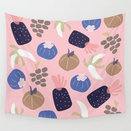Cute pattern of fruits and vegetables Wall Tapestry