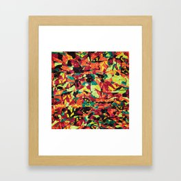 Abstract Geometric Multi-Color Blending Weird Texture Background #08 Framed Art Print