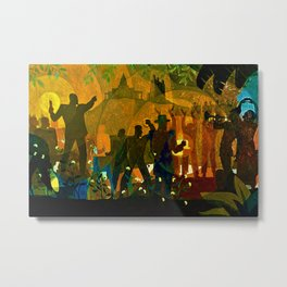 From Slavery thru Reconstruction - 135th Street Mural NY Public Library by Aaron Douglas Metal Print