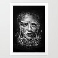 cara delevingne Art Prints featuring Cara Delevingne by Creadoorm