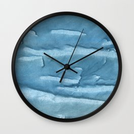 Cadet blue colored watercolor pattern Wall Clock