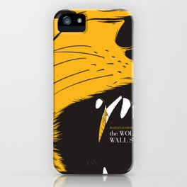 The Wolf of Wall Street | Fan Poster Design iPhone Case