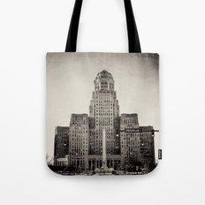 Down Town Buffalo NY city hall Tote Bag
