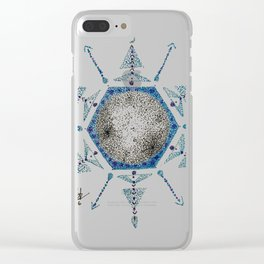 Winter Moon Clear iPhone Case