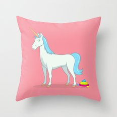 Unicorn Poop Throw Pillow