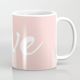 Rose Gold Love Lettering Coffee Mug