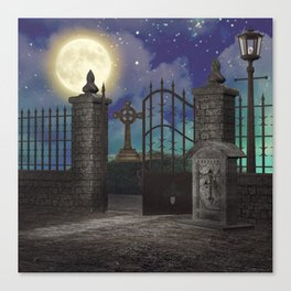 Graveyard #5 * cemetary scary spooky tombstone creepy Canvas Print