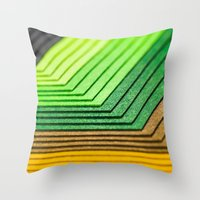 frame Throw Pillows featuring Frame by Floyd Triangle