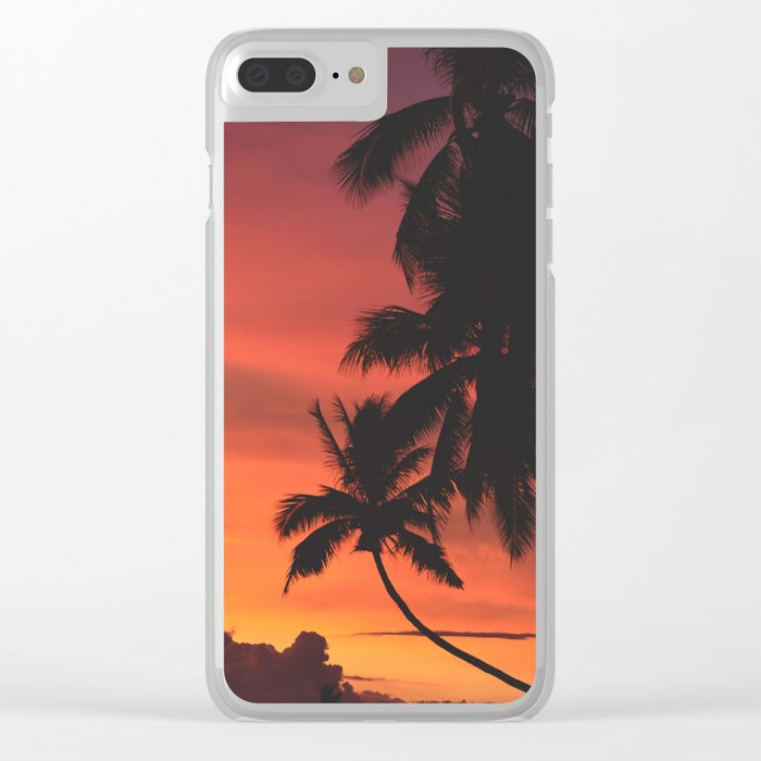 Palm Tree Majesty Clear iPhone Case