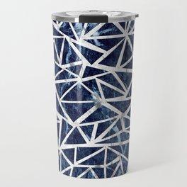 Mozaic Triangle Blue Marble Travel Mug