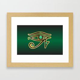 Eye of Ra Emerald Framed Art Print