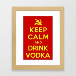 KEEP CALM AND DRINK VODKA Framed Art Print