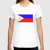 philippines T-shirts featuring Philippines country flag by tony tudor