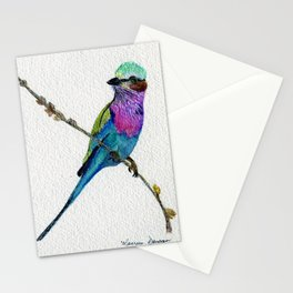 Lilac Breasted Roller by Maureen Donovan Stationery Cards