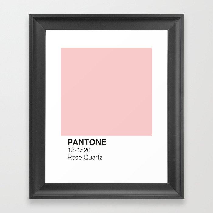 Rose Quartz Pantone Gerahmter Kunstdruck