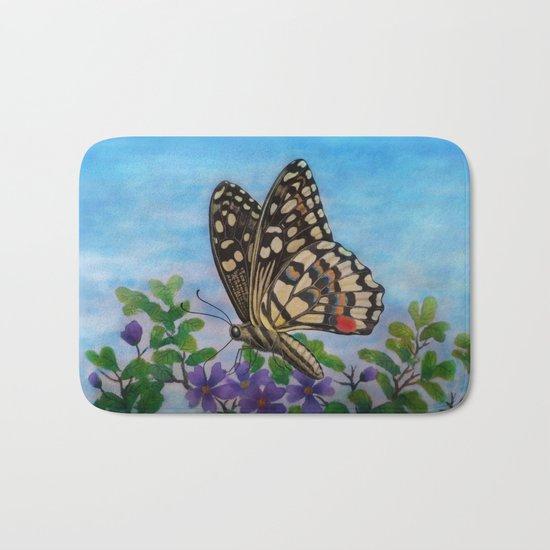 Chequered swallowtail  Bath Mat