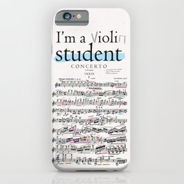Violin student iPhone Case