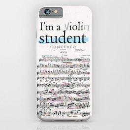 Violin student iPhone Case