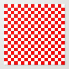 Jumbo Australian Racing Flag Red and White Checked Checkerboard Pattern Canvas Print