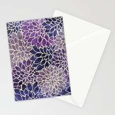 Floral Abstract 11 Stationery Cards