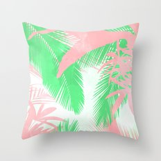 Tropical N Throw Pillow