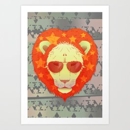 Lion Star Art Print