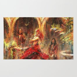 Flamenco. Spanish music and dance Rug
