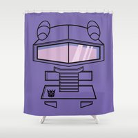 transformers Shower Curtains featuring Transformers - Shockwave by CaptainLaserBeam