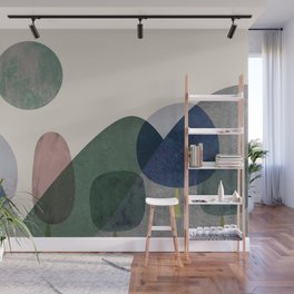Trees and mountains Wall Mural
