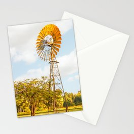 Windmills are gold in the Outback! Stationery Cards