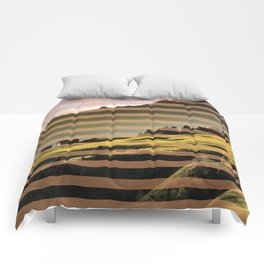 Landscape pattern (with pink touches) Comforters