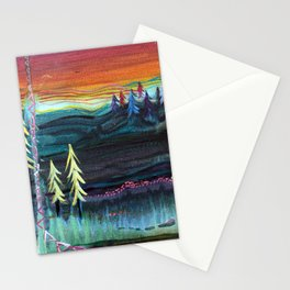 Behind the trees Stationery Cards