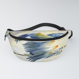 Flying Together - Great Blue Heron Fanny Pack
