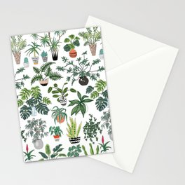 plants and pots pattern Stationery Cards