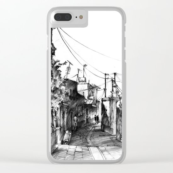 Rhodes backalley Clear iPhone Case